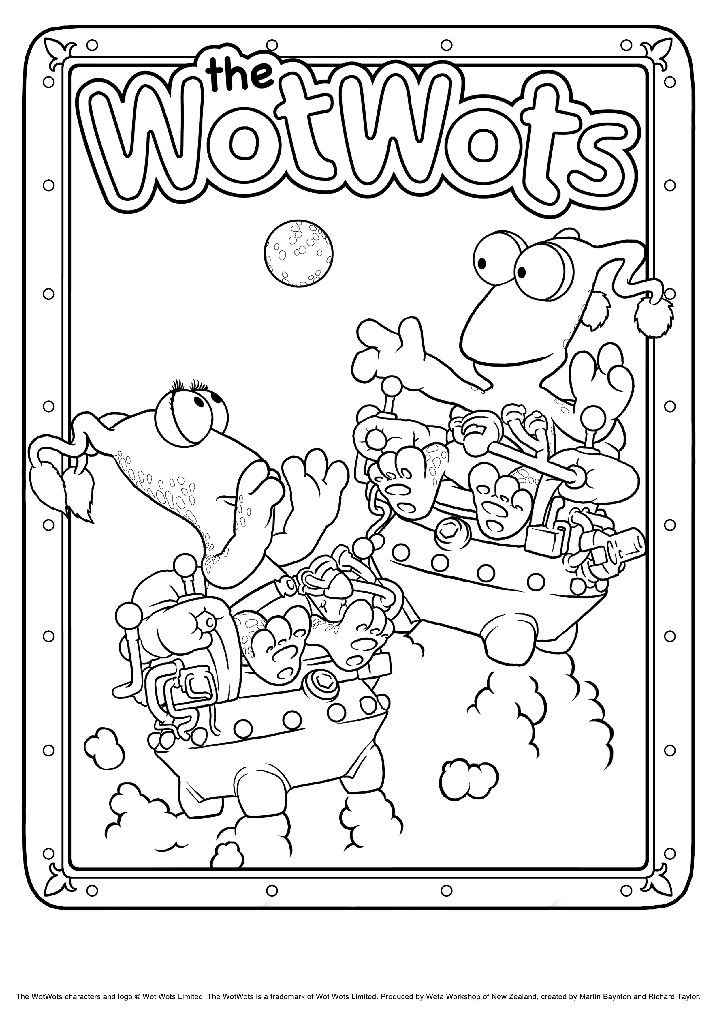 Print & Colour In | The WotWots
